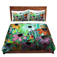 Duvet Cover collaboration between Aja and DiaNoche Designs, King, Queen, Twin, Toddler, Stories From A Field Act LXI