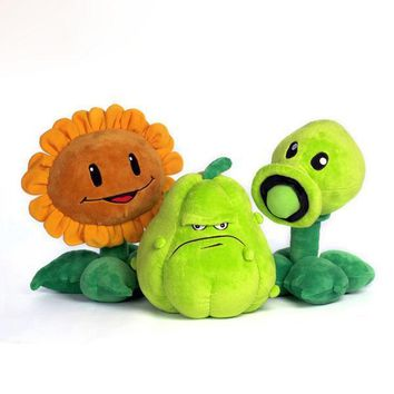30CM Plants vs Zombies Plush StuffedToys Pea Shooter Pumpkin Sunflower Soft Pillow Cushion Toys Doll Baby Toy for Kids Birthday