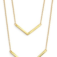 Women's Argento Vivo Double Pendant Necklace