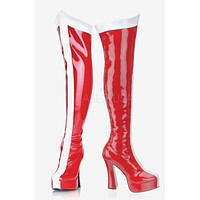 """Electra 2090 Red Patent """" Wonder Woman """" Thigh High Boot"""