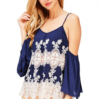 Fleur Filigree Cold Shoulder Top