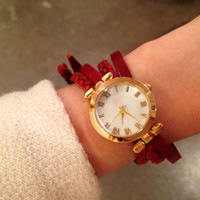Romantic Knot Leather Watch