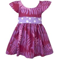 "Fair Trade Little Girls Cotton ""Princess"" Batik Print Dress"