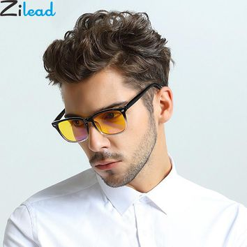 Zilead Eyes Protection Reading Goggles Anti Blue Rays Protection Computer Glasses Anti-Blu-ray Glasses Myopic Lens Frame Unisex