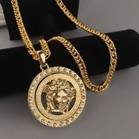 ONETOW Boys & Men Fashion Hip Hop Versace Rotate Necklace