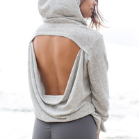 Blue Life Fit - Open Back Hoodie / Pepper - Pepper /