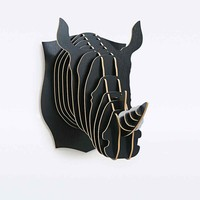 Rhino Sculpture in Black - Urban Outfitters