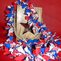 Memorial Day/ Fourth of July Patriotic Garland, Fourth of July Decor, Memorial Day Decor, Banner