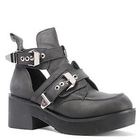 Jeffrey Campbell Boot Leather Cutout in Black