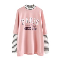 Paris Faux Two Piece T-Shirt