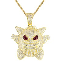 Men's IcedOut Cartoon Character Baguette Custom Pendant Chain