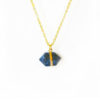 Sodalite Right on Point Necklace