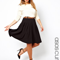 ASOS Curve | ASOS CURVE Midi Skirt With Belt at ASOS