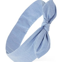 Bow-Front Chambray Headwrap