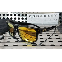 New Oakley HOLBROOK Sunglasses 9102-E355 Gloss Black w/ 24K Iridium Lenses