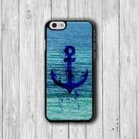 Abstract Painting Anchor Art Sea iPhone 6 Cover, Lovely Freedom iPhone 6 Plus, iPhone 5S, iPhone 4S Hard Case, Rubber Deco Accessories Gift