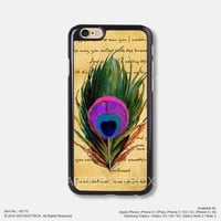 Vintage Peacock feather Free Shipping iPhone 6 6 Plus case iPhone 5s case iPhone 5C case iPhone 4 4S case Samsung galaxy Note 2 Note 3 Note 4 S3 S4 S5 case 175