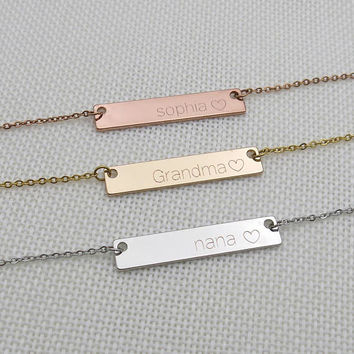Custom Necklace,Name Necklace Initial Necklace Grandma Necklace Nana Necklace Mom Necklace Mother's day gift
