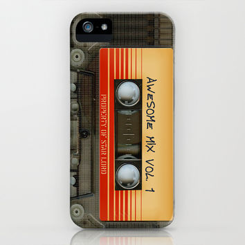 Awesome transparent mix cassette tape volume 1 apple iPhone 4 4s, 5 5s 5c, 6, iPod & samsung galaxy s4 case