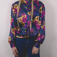 Vintage Floral Colorful Blouse