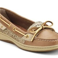 Sperry Top-Sider Women's Linen/Berry Floral Sperry Top Sider Angel Fish Sequins 8.5 B(M) US