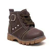 Baby Boy Coffee Color Boots with Laces