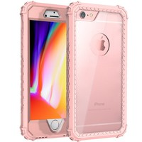 Cheap Hybrid 360 Protection Phone Case For iPhone 8 iPhone 8 Plus