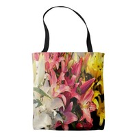 Three Colored Lilies Tote Bag