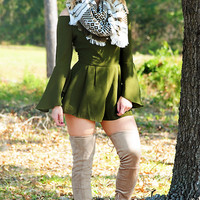 Pumpkin Patch Cutie Romper: Olive