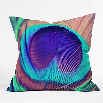 Shannon Clark Pretty Peacock Throw Pillow
