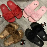 "Charmvip | ""Nike"" Women Favorite Fur Slipper Shoes (4- colors)"