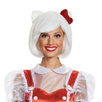 Hello Kitty Costume Wig - Adult (White)
