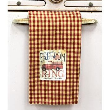 Let Freedom Ring Truck Dish Towel