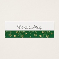 Minimalist Floral Design Modern Personalized Mini Business Card