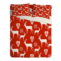 Natt Christmas Deer Sheet Set Lightweight