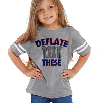 Deflate These Patriots Tee Jersey NFL Shirts   Customized NFL Shirts   Matching Football Shirts   New England Patriots