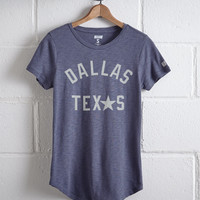 Tailgate Women's Dallas Texas T-Shirt, Blue