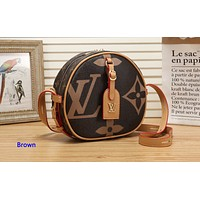 Louis vuitton hot selling lady's coffee print small shoulder bag shopping bag Brown