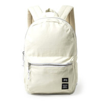 Stussy: Heavy Canvas Lawson Backpack - White