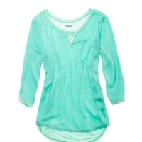 Aerie Silk-front T-shirt | Aerie for American Eagle
