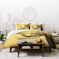 Eric Fan Elephant And Bird Duvet Cover