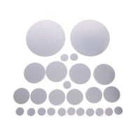 26pcs Decorative Mirrors Wall Stickers Silver Round Bedroom Creative Modern Wall Stickers Home Room Bathroom Decoration