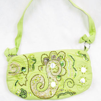 Lime Time Sparkle Purse