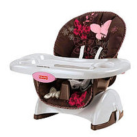 Fisher-Price SpaceSaver High Chair - Mocha Butterfly