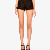 High-Waisted Lace Shorts