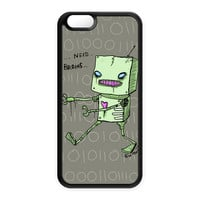 Zombie Robot Black Silicon Case Rubber Case for Apple iPhone 6 by Gus Fink