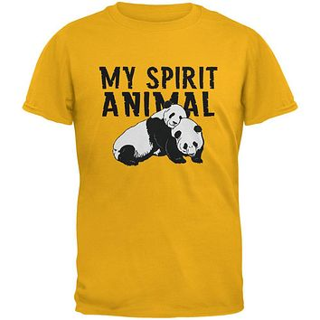 My Spirit Animal Panda Gold Youth T-Shirt
