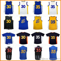 Mens 30 Stephen Curry 35 Kevin Durant Basketball Jerseys Embroidery 2017 All star Christmas Klay Thompson Draymond Green Jersey Youth Kid�