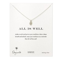 all is well hamsa necklace, sterling silver