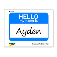 Ayden Hello My Name Is Sticker